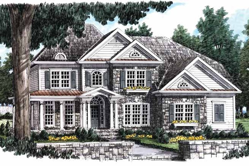 Country Exterior - Front Elevation Plan #927-643