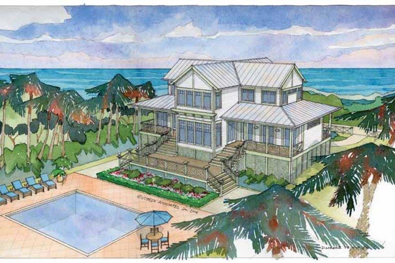 House Plan Design - Country Exterior - Rear Elevation Plan #928-57