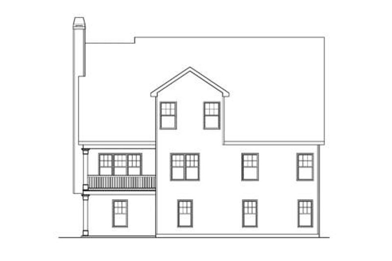 Craftsman Exterior - Rear Elevation Plan #419-204 - Houseplans.com