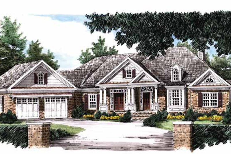 Country Exterior - Front Elevation Plan #927-653