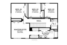 Craftsman Floor Plan - Upper Floor Plan Plan #1058-20