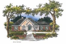 Home Plan - Mediterranean Exterior - Front Elevation Plan #952-175