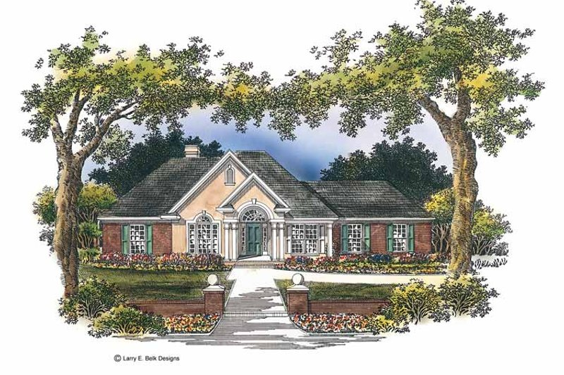 Mediterranean Exterior - Front Elevation Plan #952-175