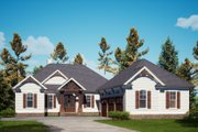 Craftsman Style House Plan - 3 Beds 3.5 Baths 3002 Sq/Ft Plan #437-123 Exterior - Front Elevation