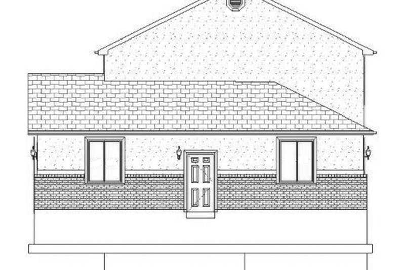 Traditional Exterior - Other Elevation Plan #1060-17 - Houseplans.com
