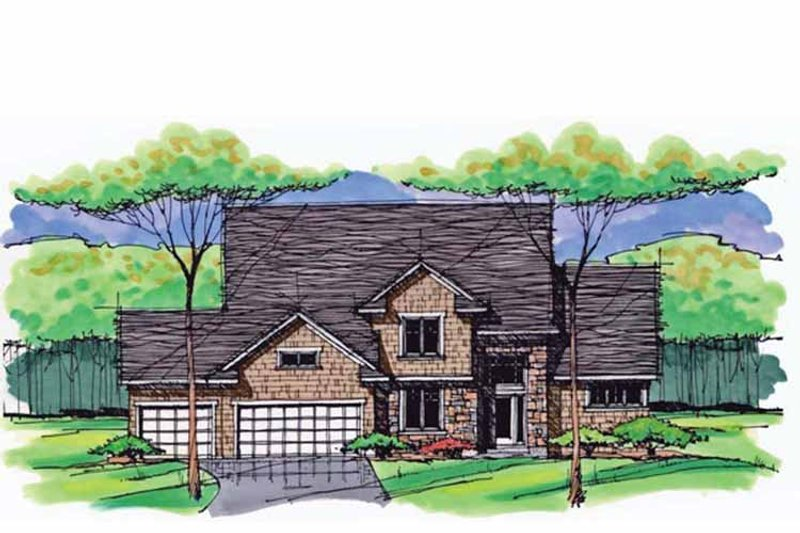 Architectural House Design - Colonial Exterior - Front Elevation Plan #51-1036