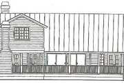 Log Style House Plan - 3 Beds 2 Baths 2323 Sq/Ft Plan #115-157 Exterior - Rear Elevation