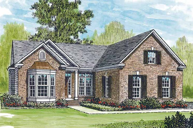 Ranch Exterior - Front Elevation Plan #453-210