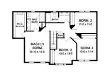 Colonial Floor Plan - Upper Floor Plan Plan #1010-59