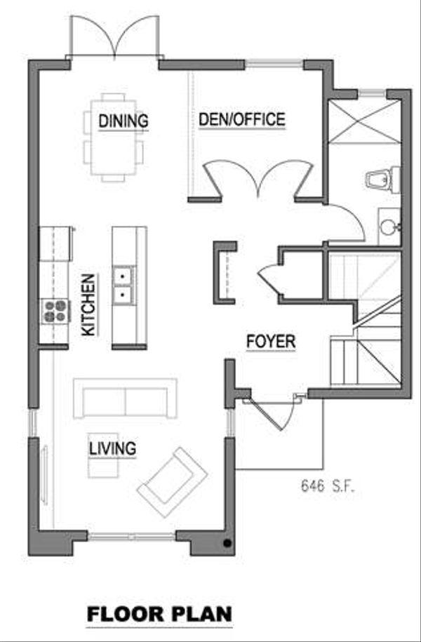 Modern Floor Plan - Main Floor Plan Plan #512-2