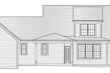 Colonial Exterior - Rear Elevation Plan #46-864