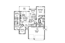 European Floor Plan - Main Floor Plan Plan #310-1258