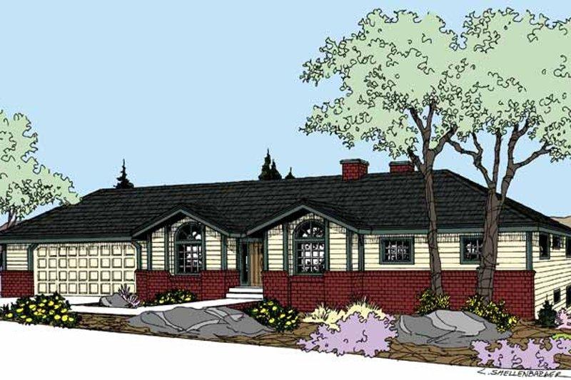 Dream House Plan - Prairie Exterior - Front Elevation Plan #60-1031