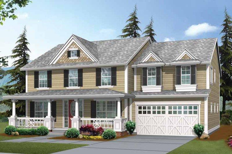 Craftsman Exterior - Front Elevation Plan #132-424 - Houseplans.com