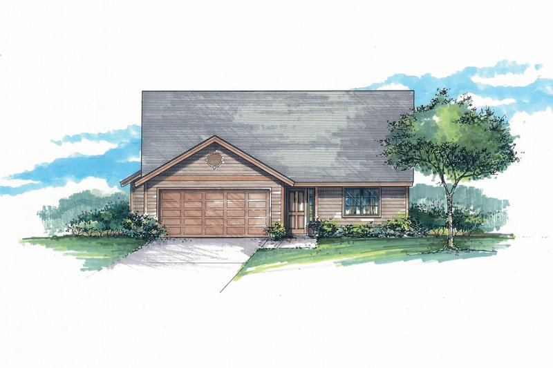 Craftsman Exterior - Front Elevation Plan #53-594