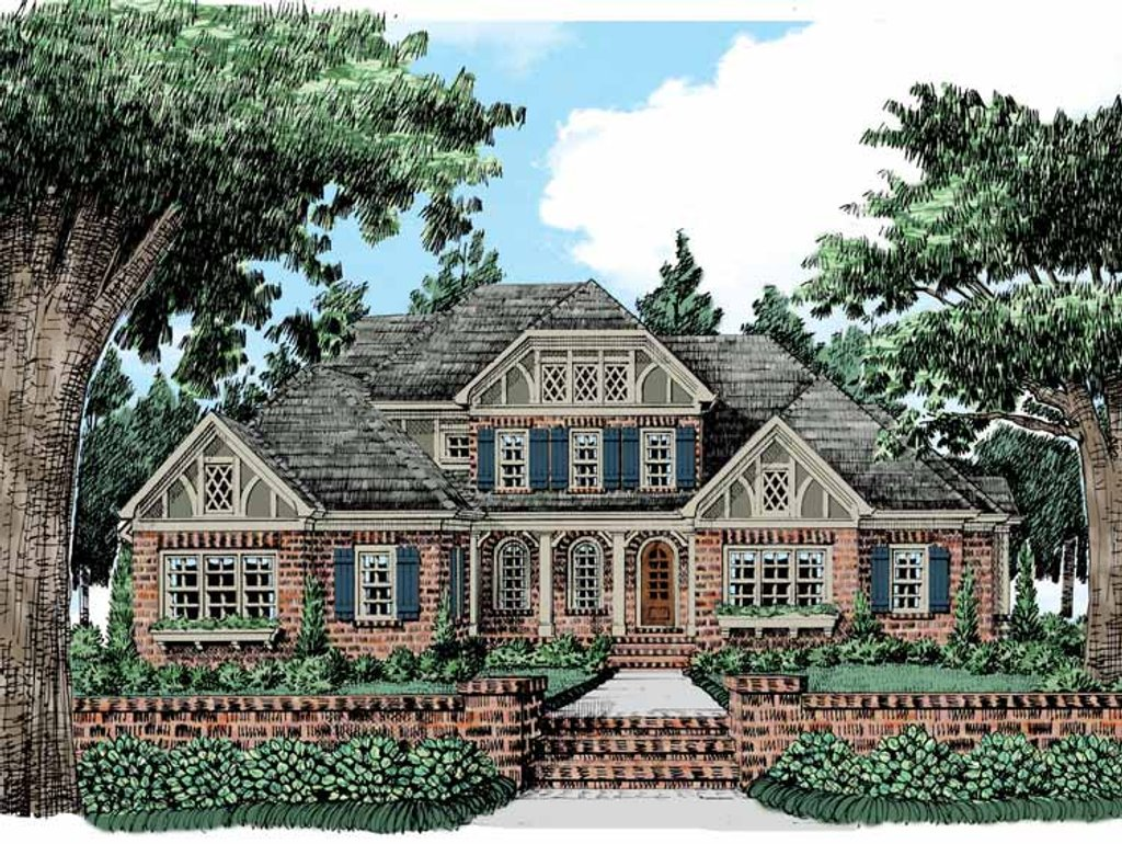 Tudor style house plan 5 beds 4 5 baths 4036 sq ft plan for Historic tudor house plans