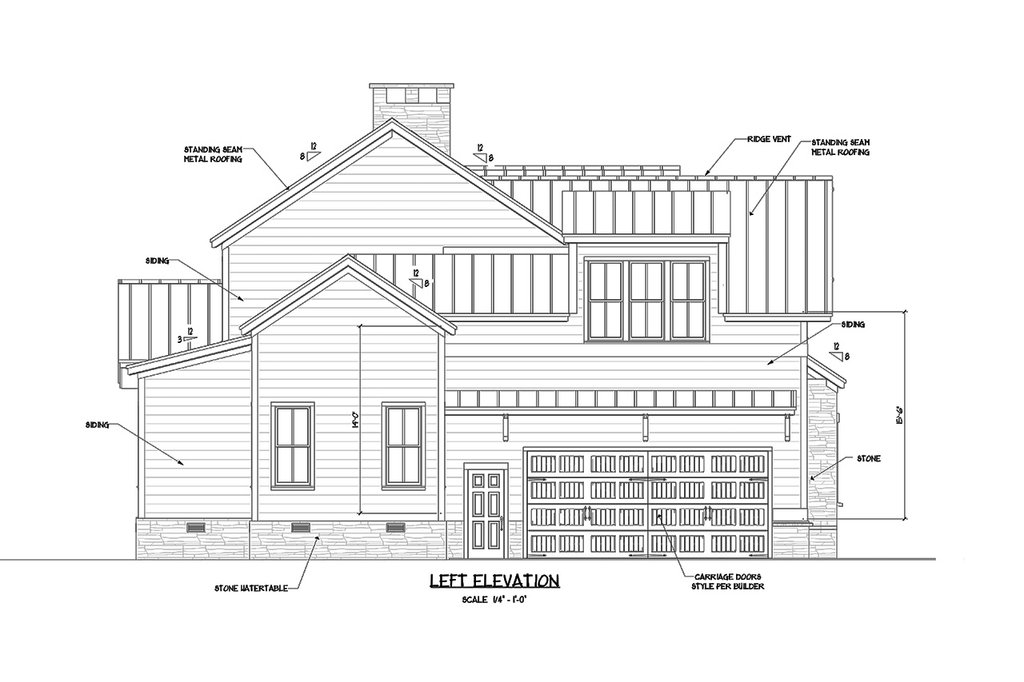 craftsman style house plan - 4 beds 3 baths 2860 sq  ft plan  1071-23