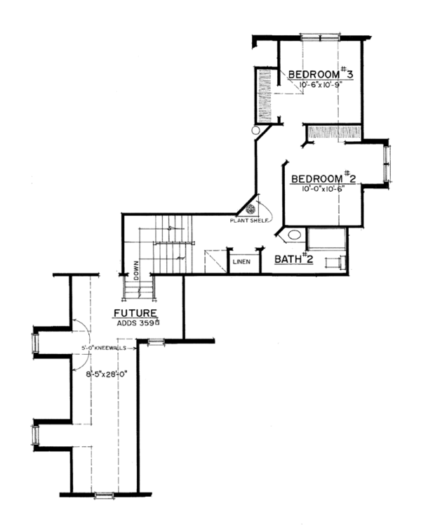 Country Floor Plan - Upper Floor Plan Plan #1016-104