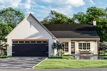 Dream House Plan - Cottage Exterior - Rear Elevation Plan #406-9665