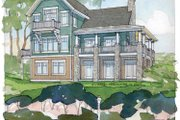 Traditional Style House Plan - 4 Beds 3 Baths 3614 Sq/Ft Plan #928-44 Exterior - Rear Elevation