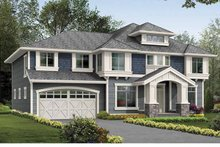 Architectural House Design - Prairie Exterior - Front Elevation Plan #132-381
