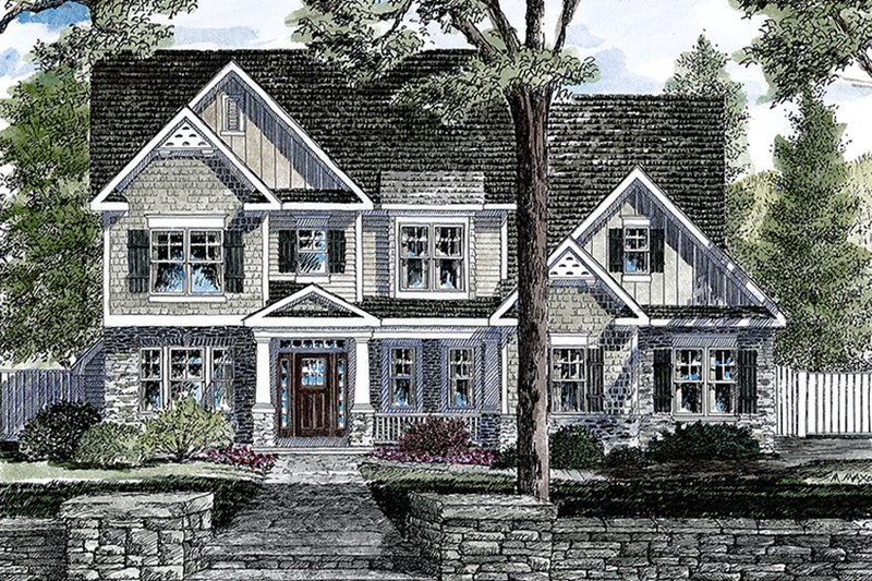 Architectural House Design - Traditional Exterior - Front Elevation Plan #316-289