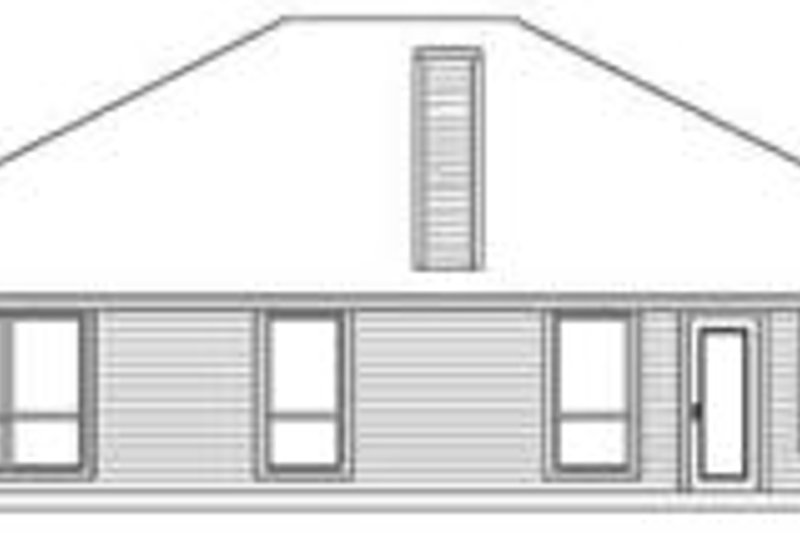 Traditional Exterior - Rear Elevation Plan #84-174 - Houseplans.com