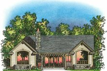 Craftsman Exterior - Rear Elevation Plan #1016-75