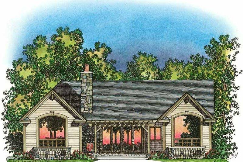 Craftsman Exterior - Rear Elevation Plan #1016-75 - Houseplans.com
