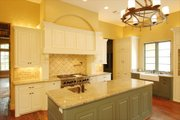 European Style House Plan - 4 Beds 5.5 Baths 5900 Sq/Ft Plan #449-3 Interior - Kitchen
