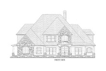 Dream House Plan - Traditional Exterior - Front Elevation Plan #437-56