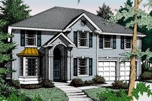Colonial Exterior - Front Elevation Plan #94-218