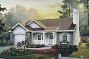 Traditional Style House Plan - 3 Beds 2 Baths 1169 Sq/Ft Plan #57-315 Exterior - Front Elevation