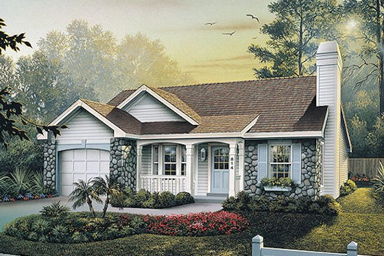 Traditional Exterior - Front Elevation Plan #57-315