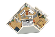 Country Style House Plan - 3 Beds 3 Baths 2281 Sq/Ft Plan #25-4743