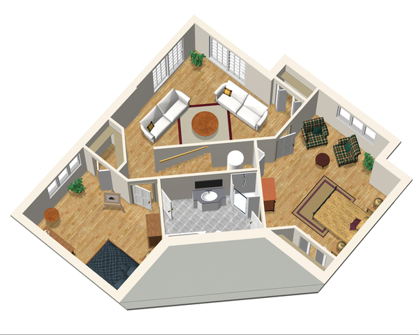 Country Floor Plan - Lower Floor Plan #25-4743