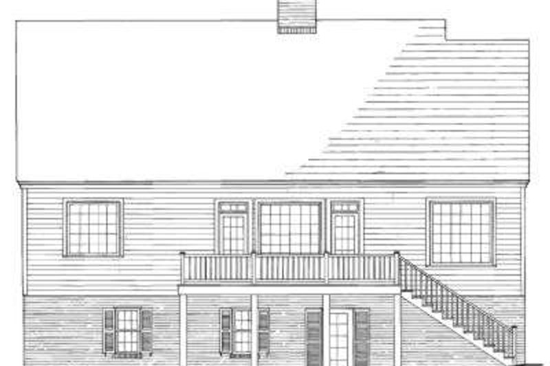 Southern Exterior - Rear Elevation Plan #137-237 - Houseplans.com