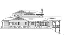 Bungalow Exterior - Rear Elevation Plan #5-384