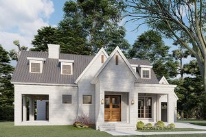Modern Exterior - Front Elevation Plan #923-198
