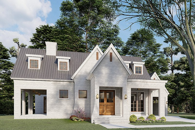 Dream House Plan - Modern Exterior - Front Elevation Plan #923-198