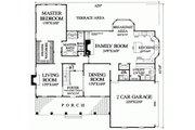 Southern Style House Plan - 4 Beds 4 Baths 3180 Sq/Ft Plan #137-174 Floor Plan - Main Floor Plan