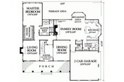 Southern Style House Plan - 4 Beds 4 Baths 3180 Sq/Ft Plan #137-174 Floor Plan - Main Floor Plan