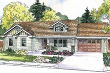Dream House Plan - Craftsman Exterior - Front Elevation Plan #124-696