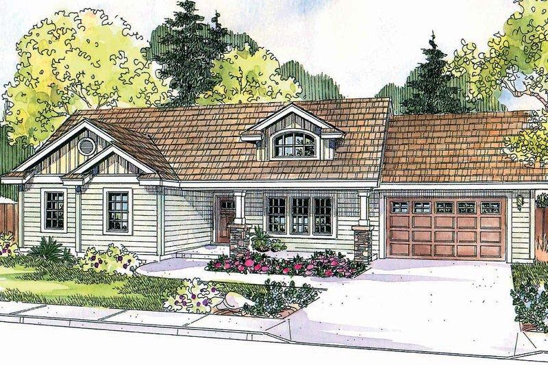 Craftsman Exterior - Front Elevation Plan #124-696