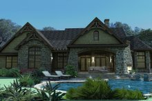 House Plan Design - Craftsman Exterior - Rear Elevation Plan #120-165