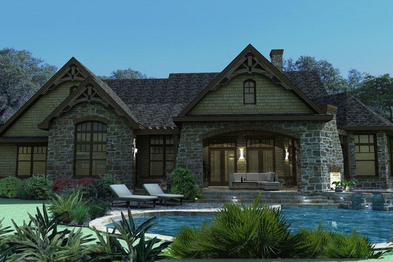 Craftsman Exterior - Rear Elevation Plan #120-165 - Houseplans.com