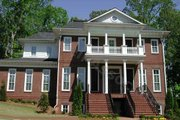 Colonial Style House Plan - 5 Beds 5.5 Baths 5726 Sq/Ft Plan #54-133 Exterior - Front Elevation
