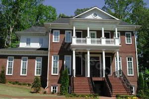 Colonial Exterior - Front Elevation Plan #54-133