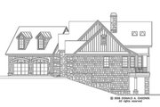 European Style House Plan - 4 Beds 4 Baths 2401 Sq/Ft Plan #929-4 Exterior - Other Elevation