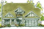 Traditional Style House Plan - 4 Beds 3.5 Baths 2336 Sq/Ft Plan #20-246 Exterior - Front Elevation